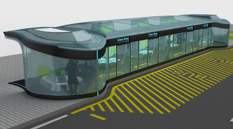 bus stop design plan