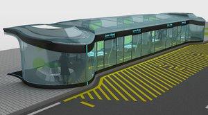 bus stop design 3d model