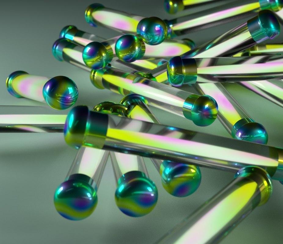obj simple glowing tubes