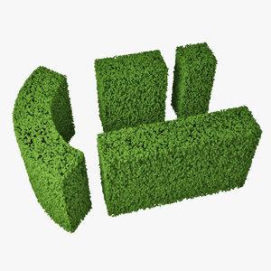 3d hedge model