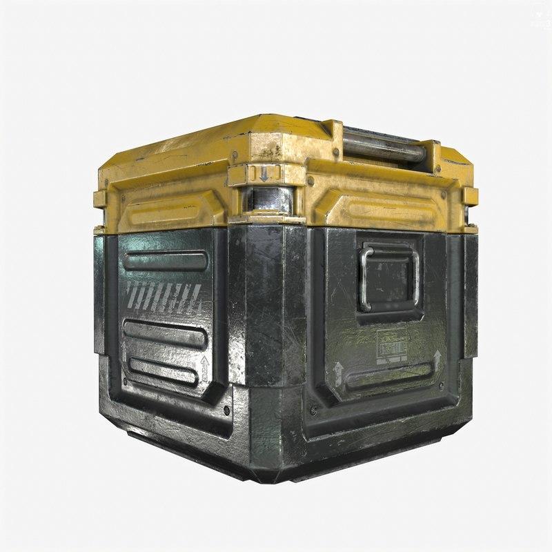 3d model ready sci-fi industrial crate