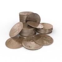 1 dollar coin 3d model