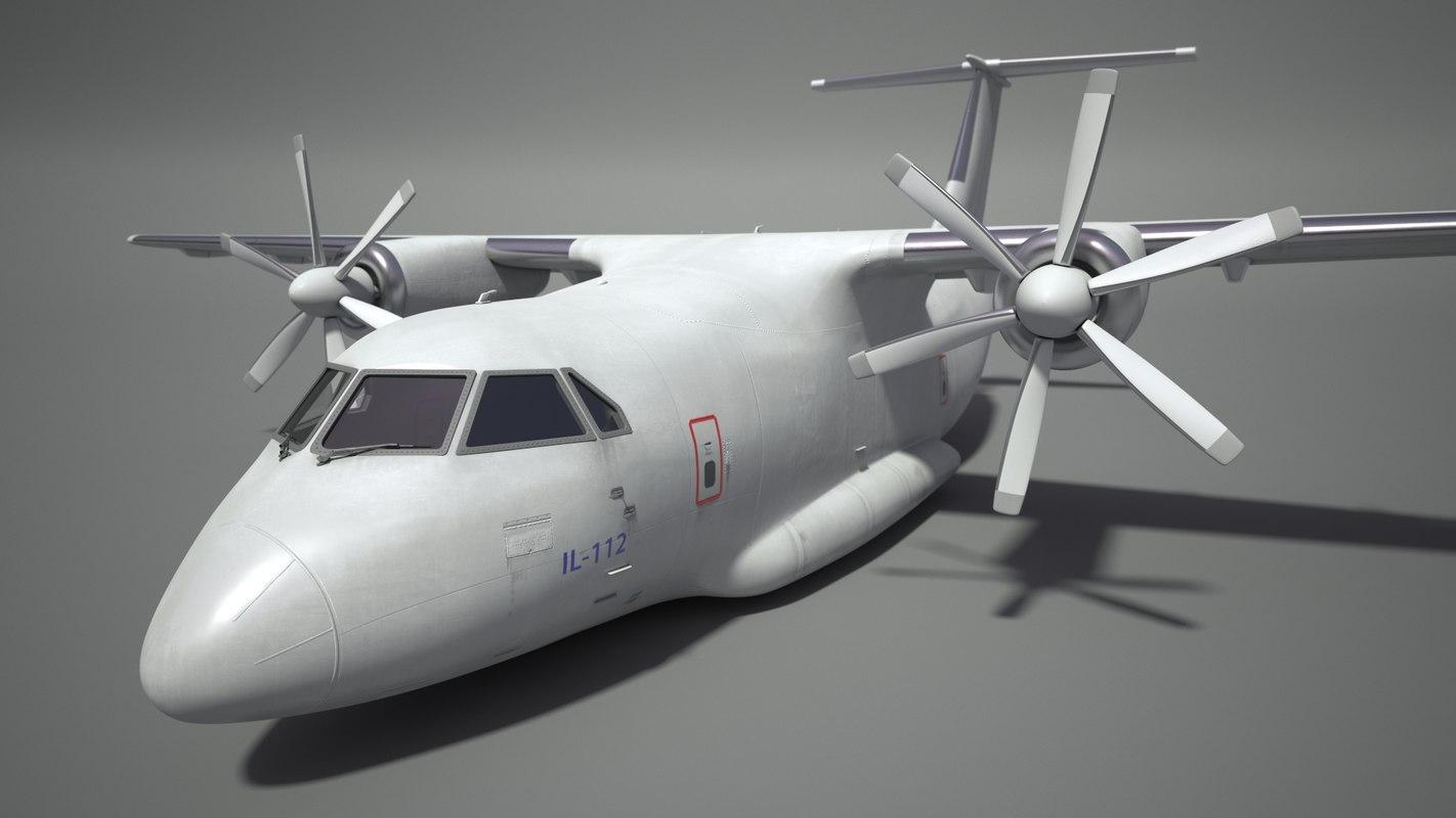 il-112 aircraft 3d model