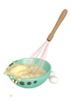 3d model of bowl whipped cream eggs