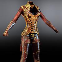 3ds stylish women s armor