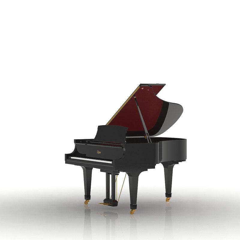 3d boston grand piano model