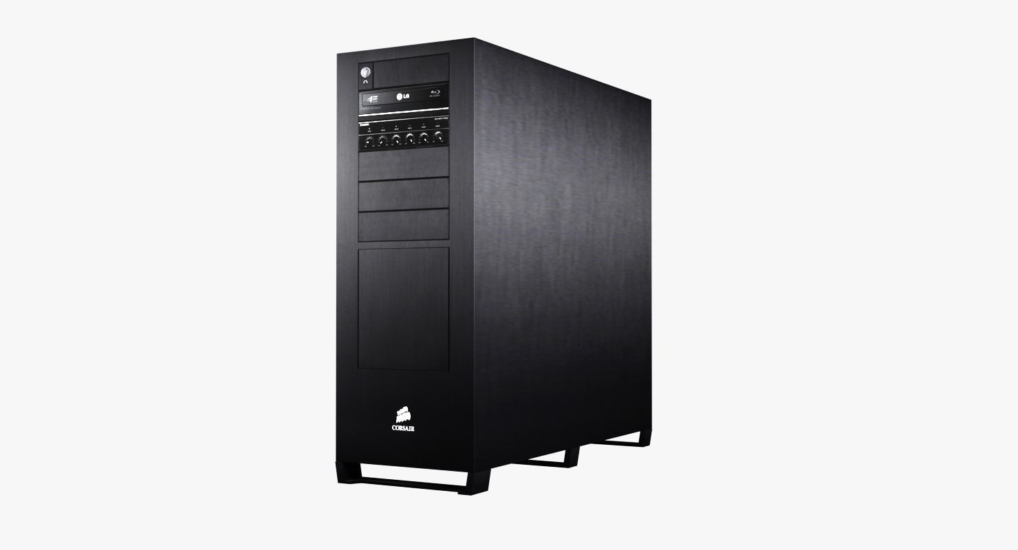 3d computer case desktop corsair model