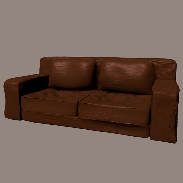 Old Leather Sofa