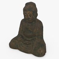 c4d buddha statue