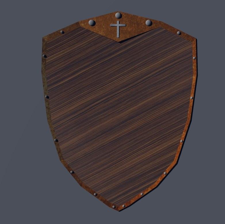 shield wooden 3d model