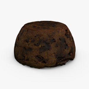 3d christmas pudding
