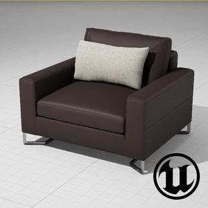3ds unreal portfolio chair