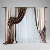 3d model curtain