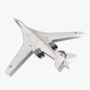 3d model strategic bomber tupolev tu-160