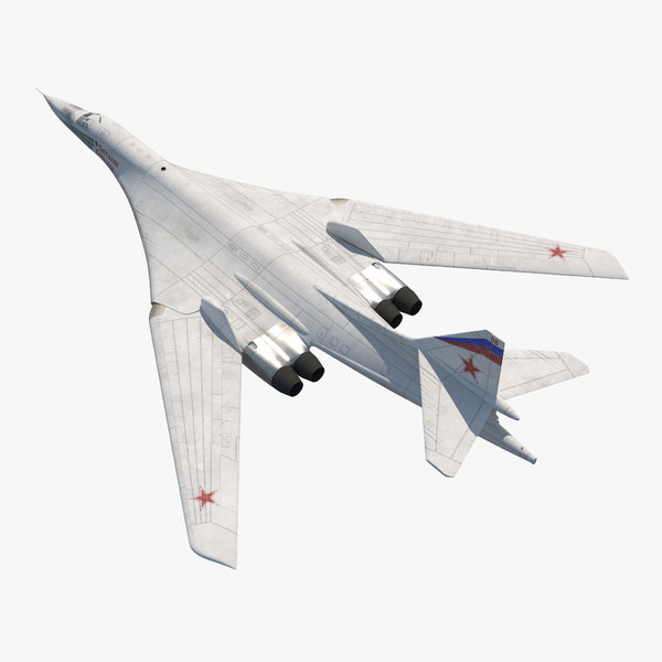 strategic bomber tupolev tu 3d model