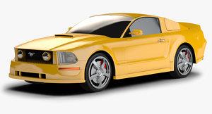 3d model 2012 mustang gt