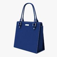 3d blue handbag
