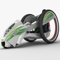 compact electric car 3d model
