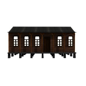 3d georgian old house megruli model
