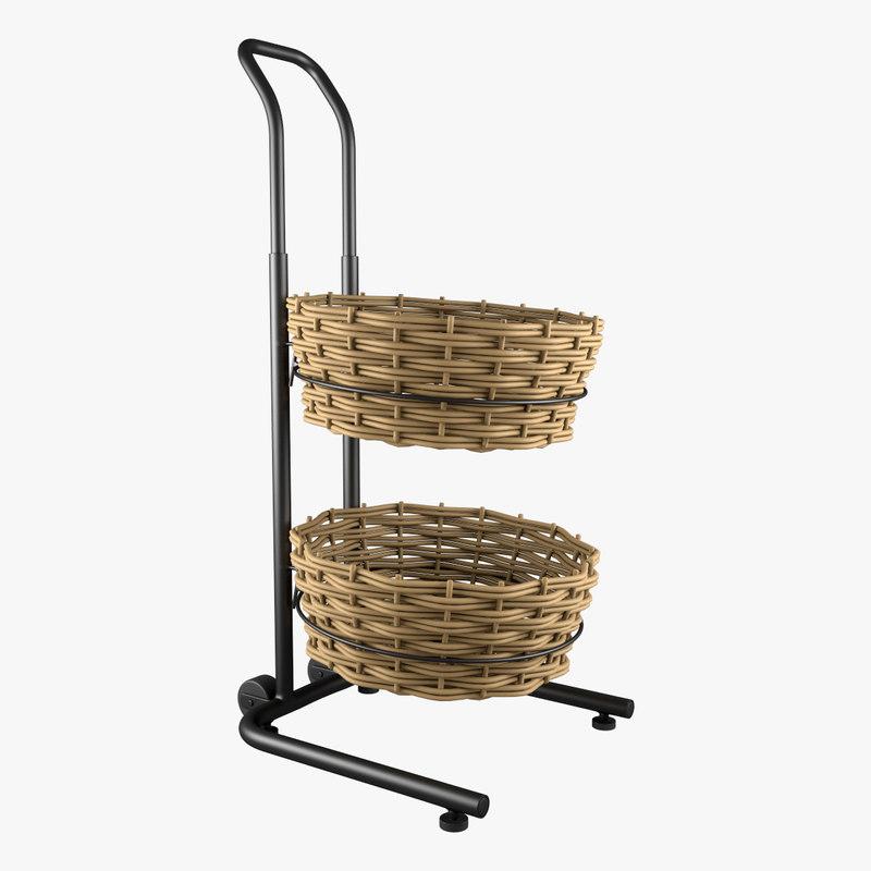 basket floor stand 3d model