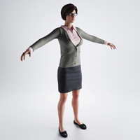3d model of teacher suit