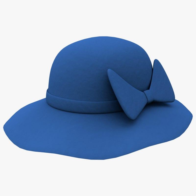 3d blue hat model