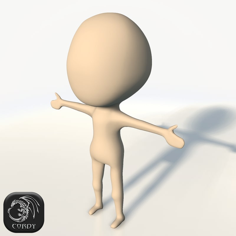 3d cartoon chibi base mesh
