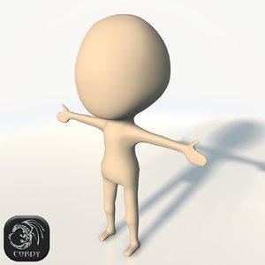 3d cartoon chibi base mesh