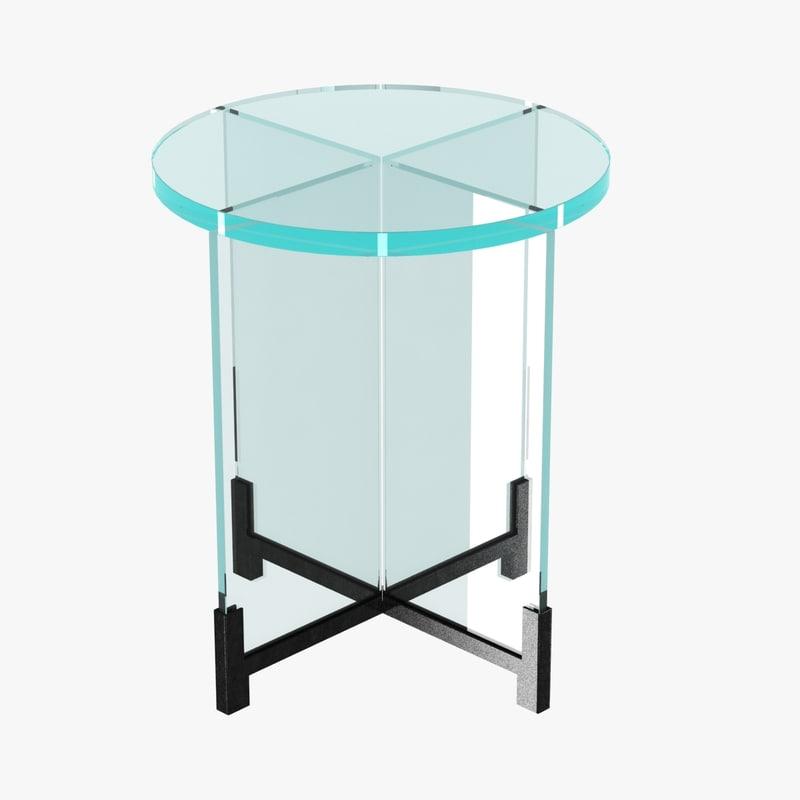 glass table miroir max