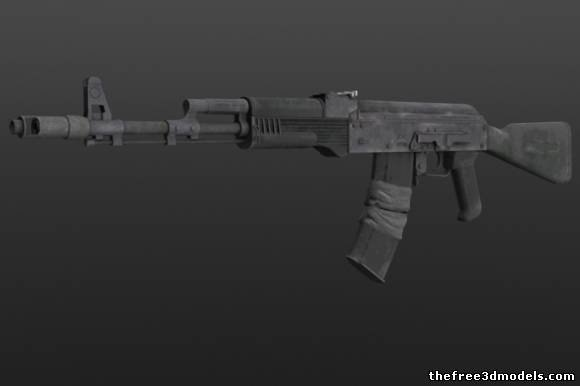 ak-74m cryengine 5 3d model