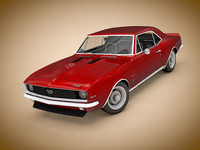 3d model of camaro ss 1969