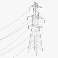 3d model electric line