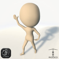 cartoon chibi base mesh 3d 3ds