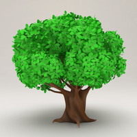 Stylized Cartoon Tree