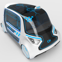3d electric car model