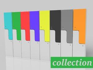 color wardrobe 3d model