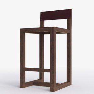 3d model bddw guest stool