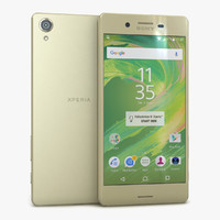 3d model sony xperia x lime