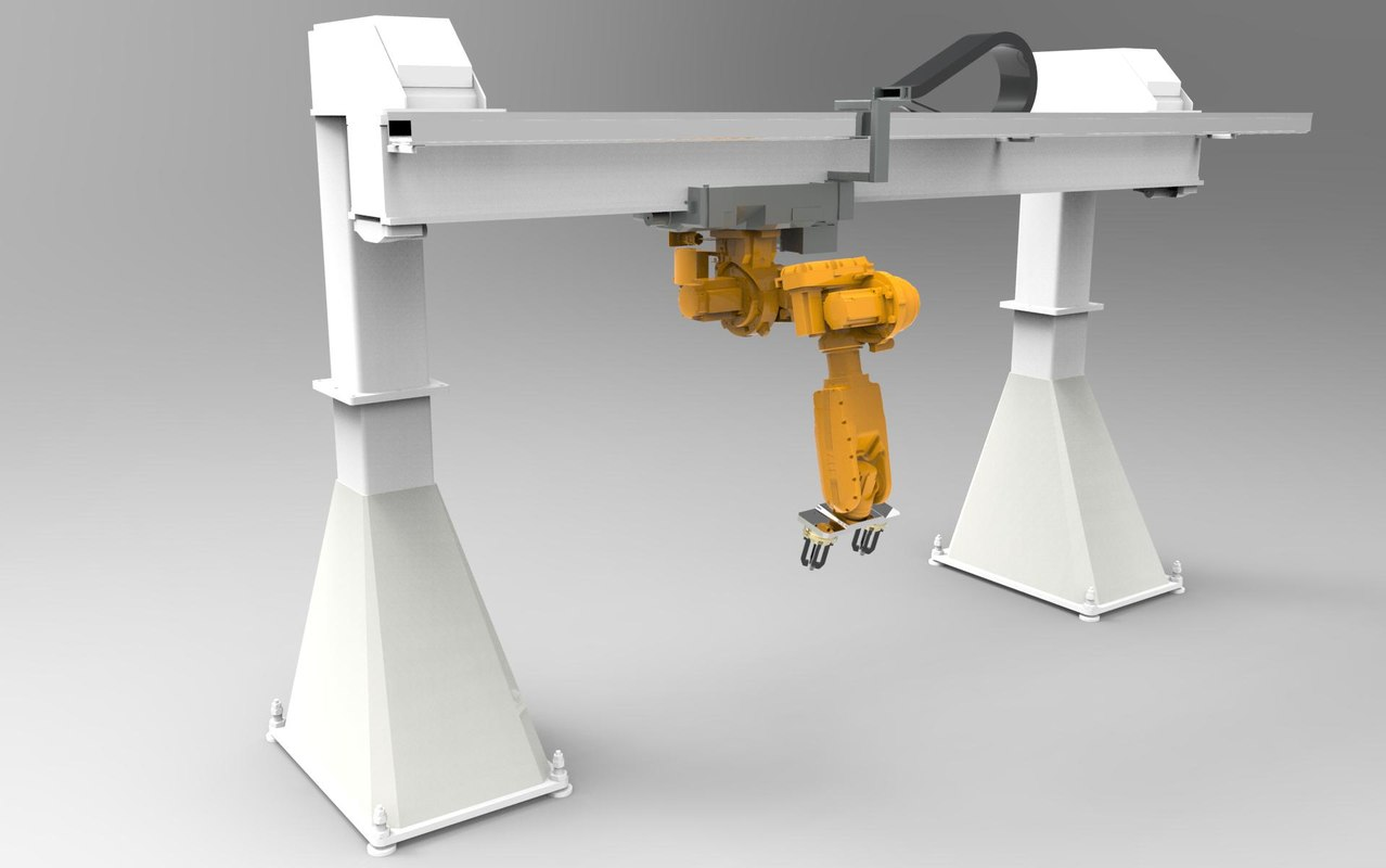 industrial robot arm 3d max