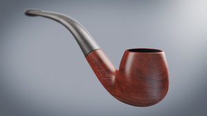 smoking pipe tobacco 3d model