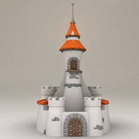 3d cartoon stylized castle
