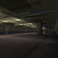 3d model of garage underground parking
