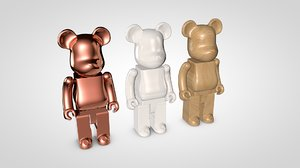 3d bearbrick bear model