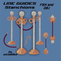 3d model line guides stanchions