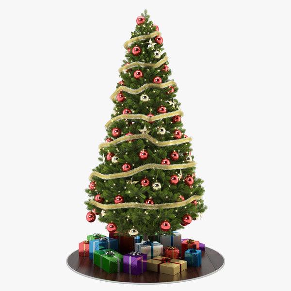 christmas tree 3d c4d