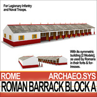 ancient roman barrack block 3d model