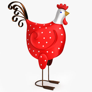 french decorative rooster 3d max