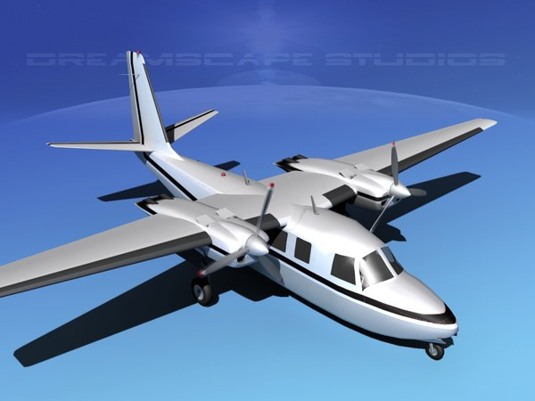 3d model propellers aero commander 560