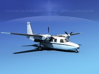 propellers aero commander 560 3d model