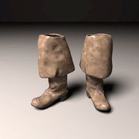 pirate boots 3d model